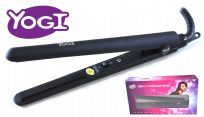 YOGI COMPACT MID-SIZE HAIR STRAIGHTENER  BLACK  IONIC TOURMALINE CERAMIC